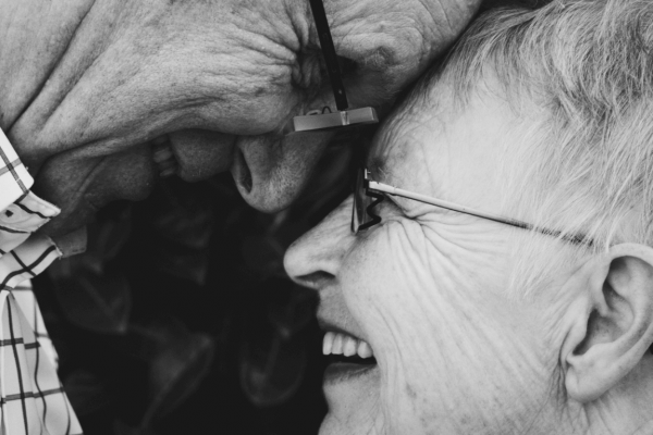 Grandparents happy and smiling