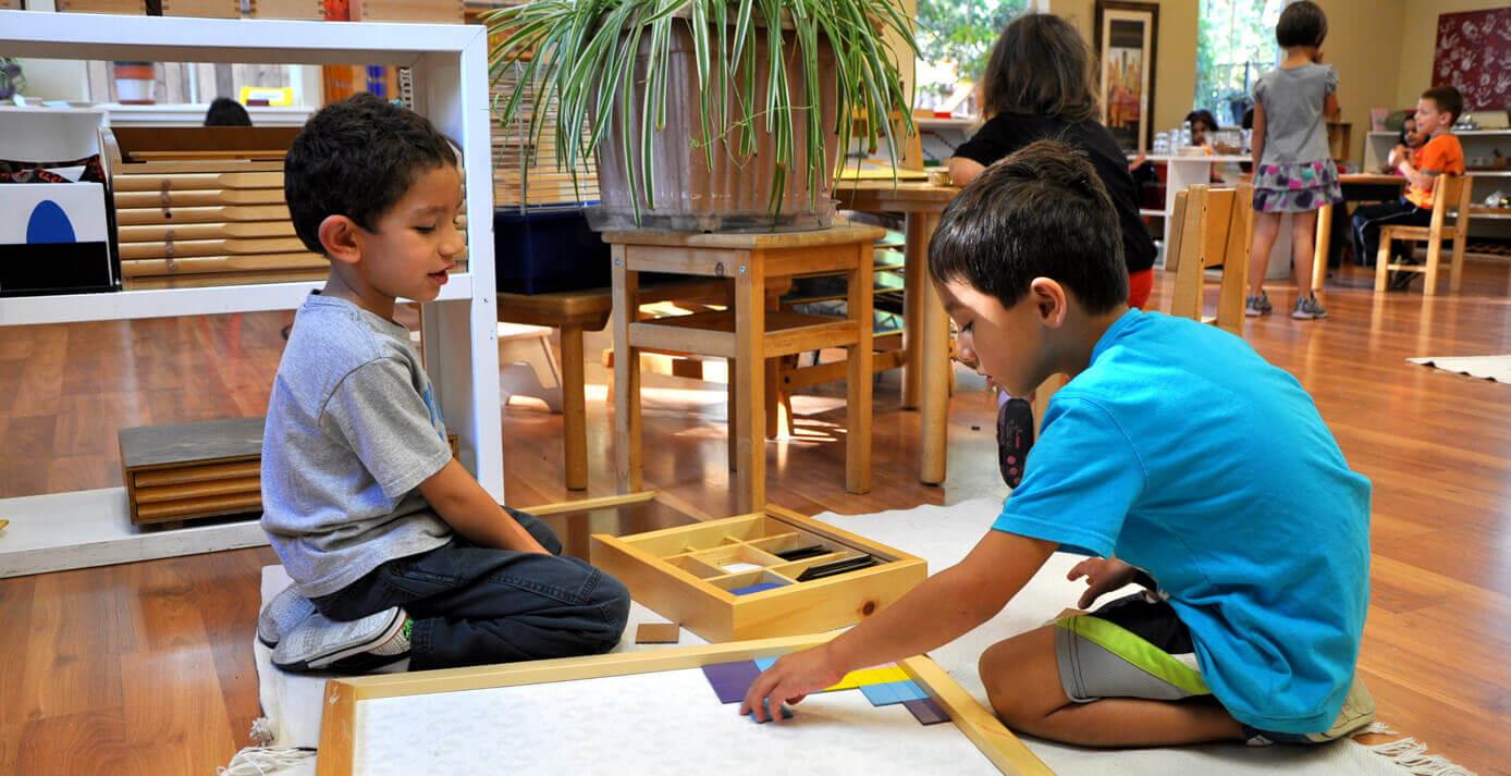 children under the Montessori method