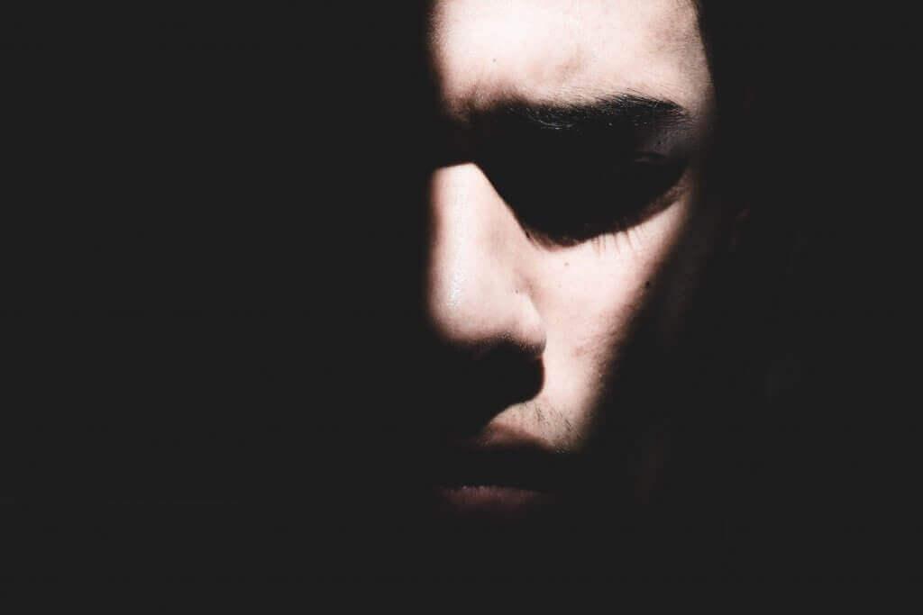 A dark face.
