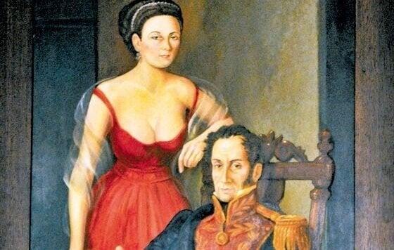 Manuelita and Simon Bolivar: love stories in history.