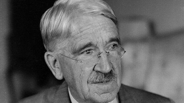 a portrait of John Dewey