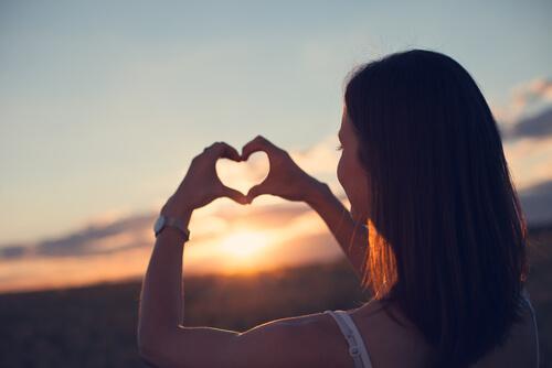 A heart in the sun.