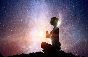 woman finding inner light