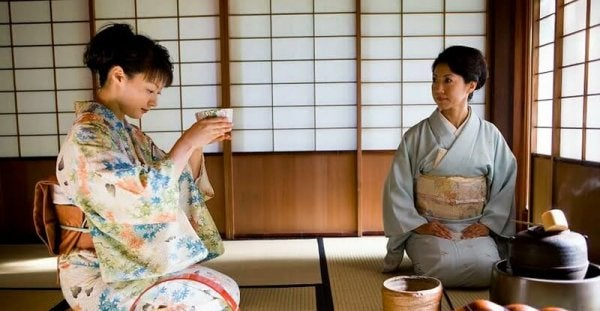 The tea ceremony in Japan.