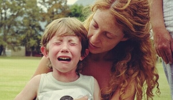Children with learning disabilities crying.