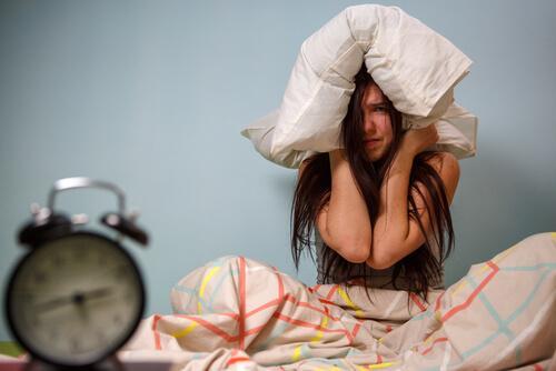 frustrated woman representing circadian rhythm sleep disorder