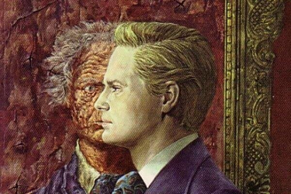 man and painting representing Dorian Gray syndrome