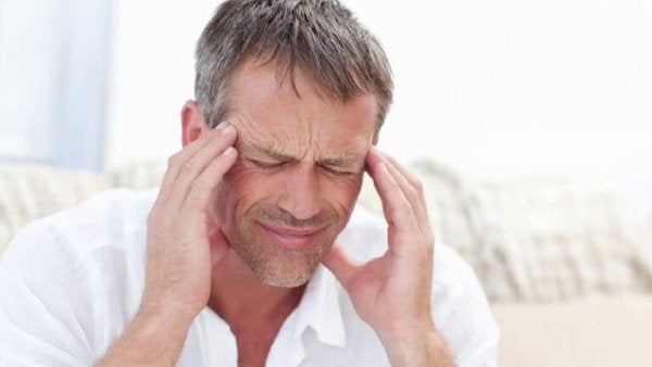 man who has trigeminal neuralgia in pain