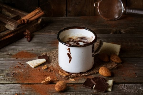 hot chocolate, one of the exercises to stop worrying
