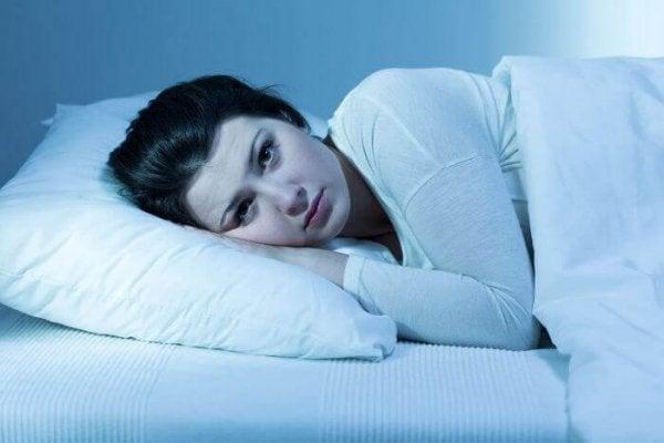 woman awake representing circadian rhythm sleep disorder