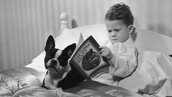 children reading before bed