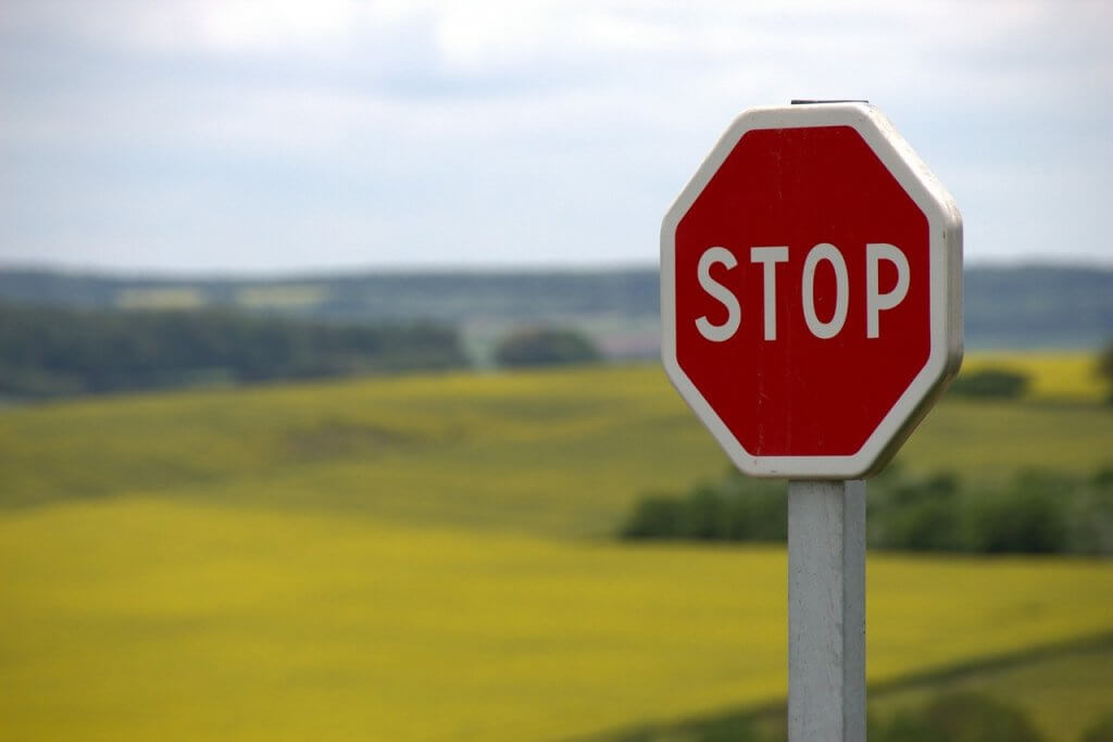 stop sign as a symbol of thought stopping