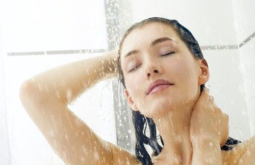 woman showering to help her get up