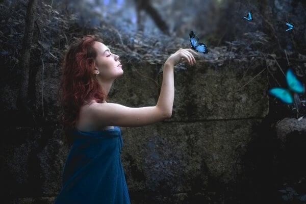 파란 나비