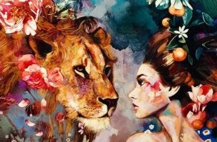 Girl with lion