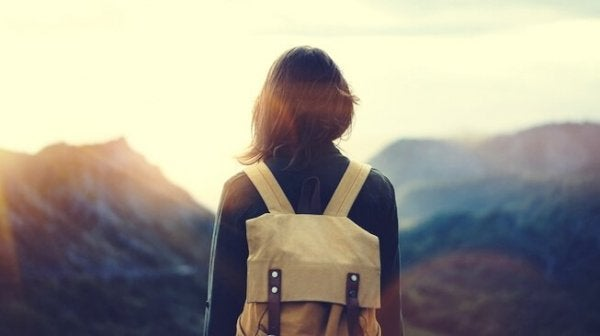 Girl with rucksack