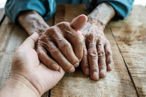 hands of a carer