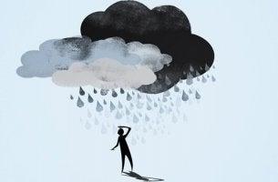 person under cloud