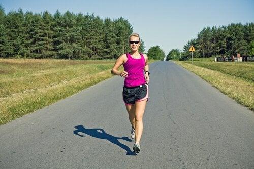 Power walking: woman