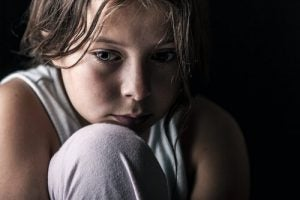 lack of affection in children: crying girl