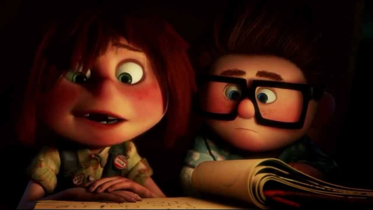 Carl and Ellie in Up film