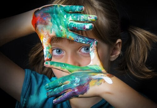 What does a gifted child look like? Child with paint