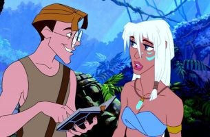 Milo and Kida in Atlantis.