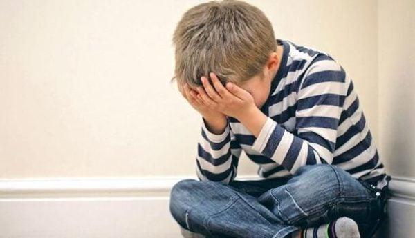boy with a childhood trauma