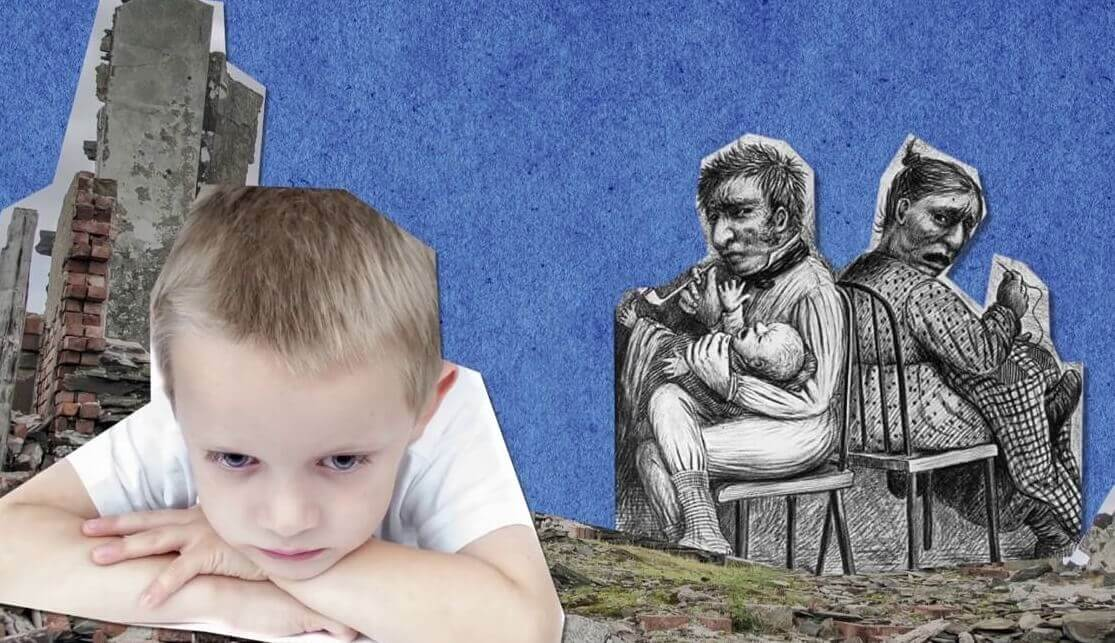 Child thinking about parents