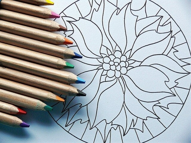 Coloring mandalas can help with stress