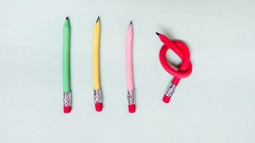 pencils representing high-functioning anxiety