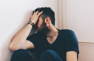 man going through withdrawal from drug use