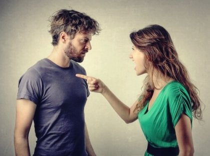 Woman accusing partner