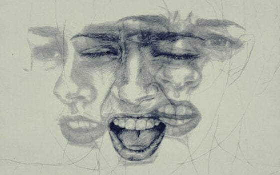 a face feeling different emotions