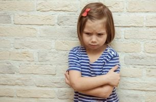 Girl suffering from emotional blackmail
