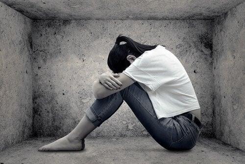 sad girl with low self-esteem