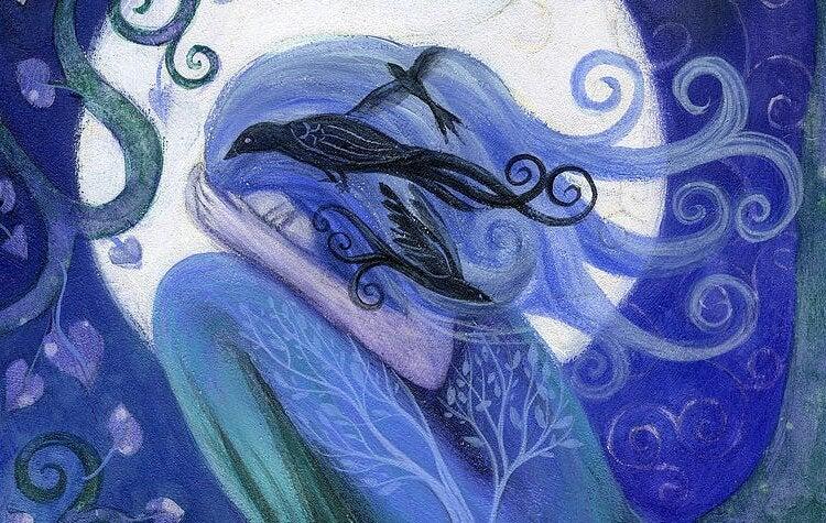 Painting depicting sadness