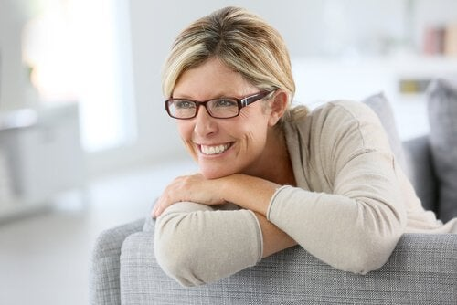 self-confident mature woman