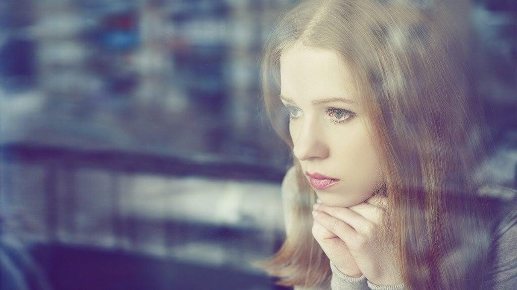 Woman and window.