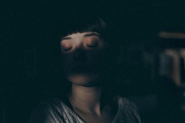 Shadowy woman.