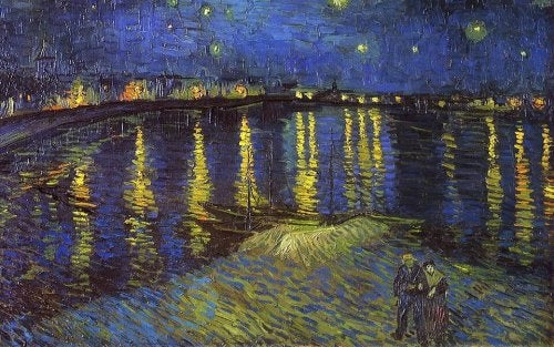 A famous painting by Van Gogh that may awaken aesthetic emotions.