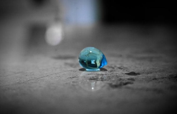 Childhood is as delicate as a blue drop on the floor.