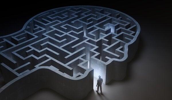 A man going into a maze.