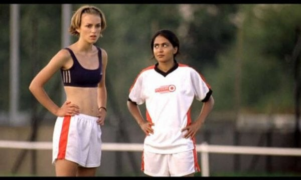 Still of the movie Bend It Like Beckham.