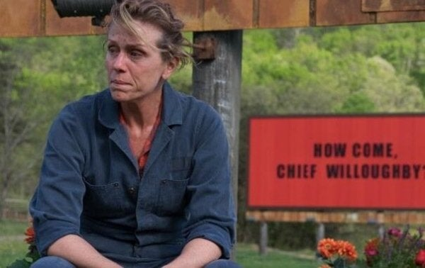 Frances McDormand in Three Billboards Outside Ebbing Missouri.