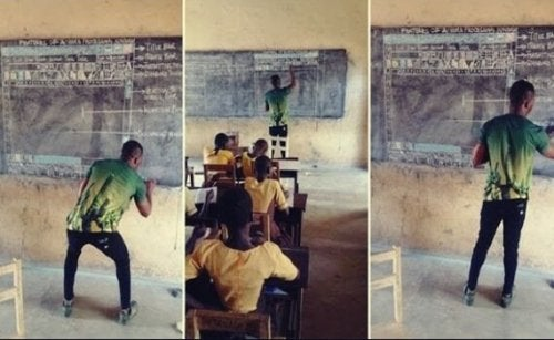 Attitude and Inspiration: The Ghanaian Teacher Teaching IT with Chalk and a Blackboard