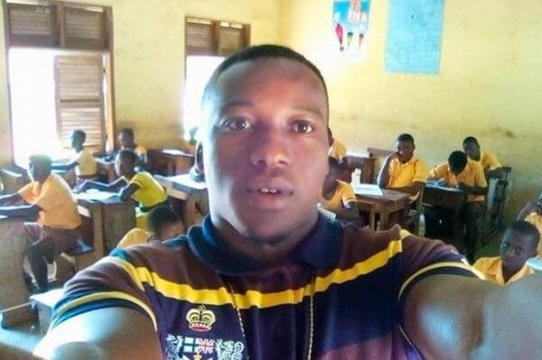 Mr. Kwadwo, the ghanaian teacher in his classroom.