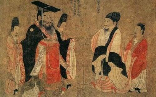 maleri af kinesere i gamle kinesiske fabler
