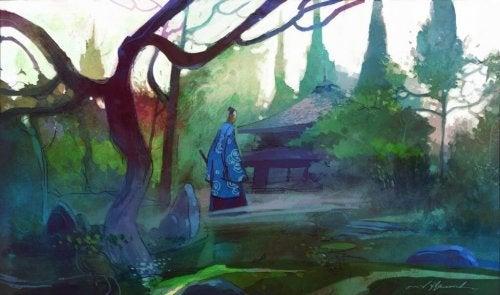 Zen master in the woods.