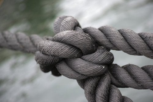 Rope knot.